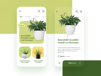 Day 4 of 100 - Planter Store ecommerce nursery pot planter plant design 100days ux ui minmal illustration app 100 day project 100daychallenge