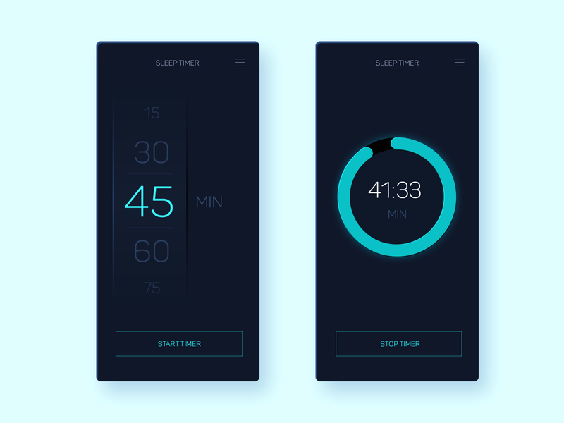 Day 12 of 100 - Sleep Timer  App Minimal Concept ux design minmal timer app progress bar progressbar app timers sleep tracker sleeping timer sleep ui