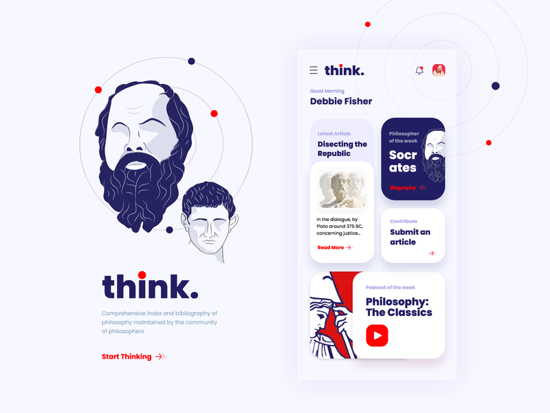 Day 16 of 100 - Philosophy App Design illustration digital illustration design minmal vector philosophy socrates appdesign interface design ui app illustration