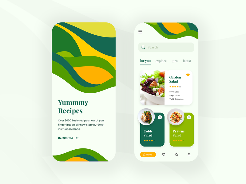 Day 23 of 100 - Recipe App Concept ui recipe app recipe food appdesign interface design app