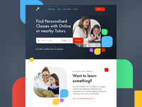 Tutor Finding Website teaching tutor landing page landing website design website