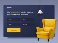 Day 31 of 100 - Interior Design Landing Page landing design landing page website form design web form form interior design interior