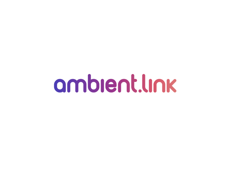 ambient.link logotype service domain typo logo gradient colorful rounded font logo colors identity corporate design
