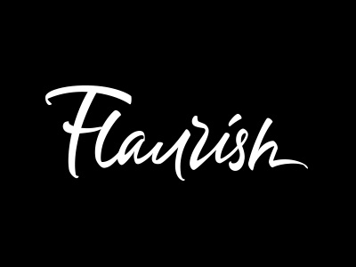 Flaurish typo black apps logotype hand-lettering logo typography lettering drawn hand