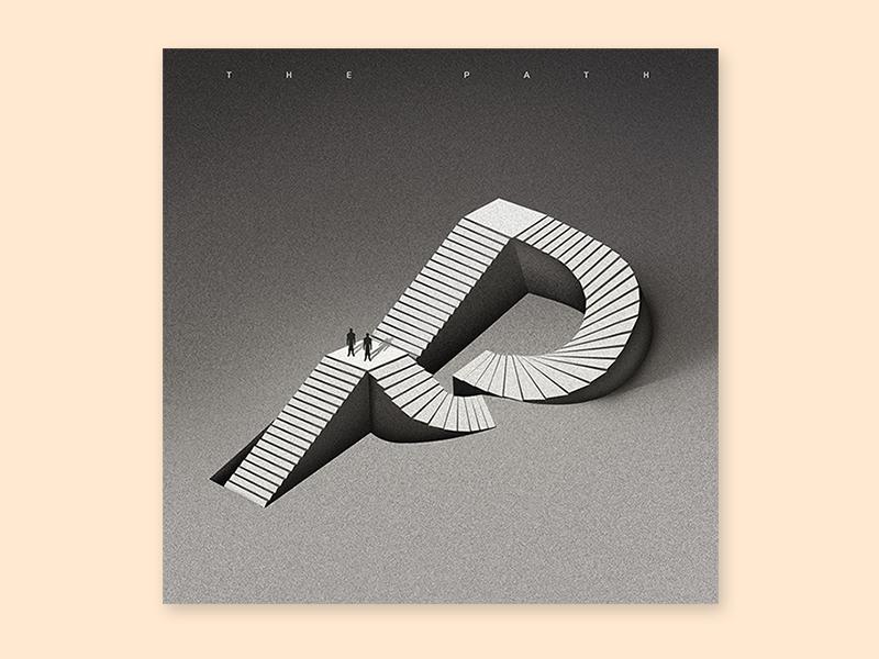 The Path album cover music cover album illustration typography type