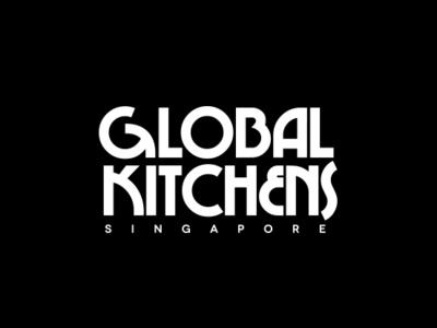 Global Kitchens logo custom typography