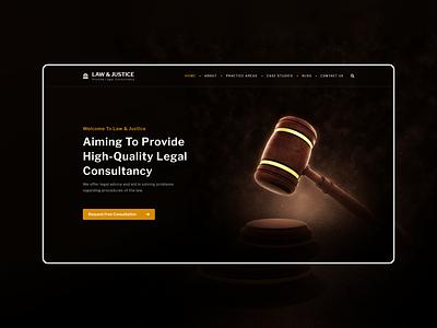 Law & Justice ux  ui ux design ui design webdesign web design justice law website concept website design website adobe illustrator ui  ux adobe xd ui typography design adobe