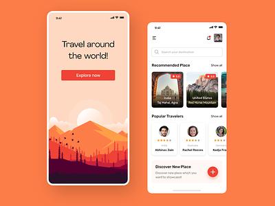 Travel App app design ux design ux  ui mobile ui ui design mobile app design mobile design travel travel app mobile app app ios app ios adobe illustrator ui  ux adobe xd ui typography design adobe