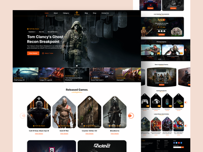 Z-Game gaming website premium game play game website ui web design game zone gaming game ui game website website design design ui design adobe xd