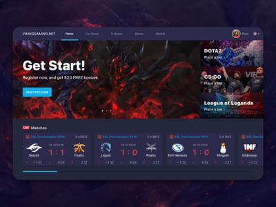 An E-Sports Bet Web