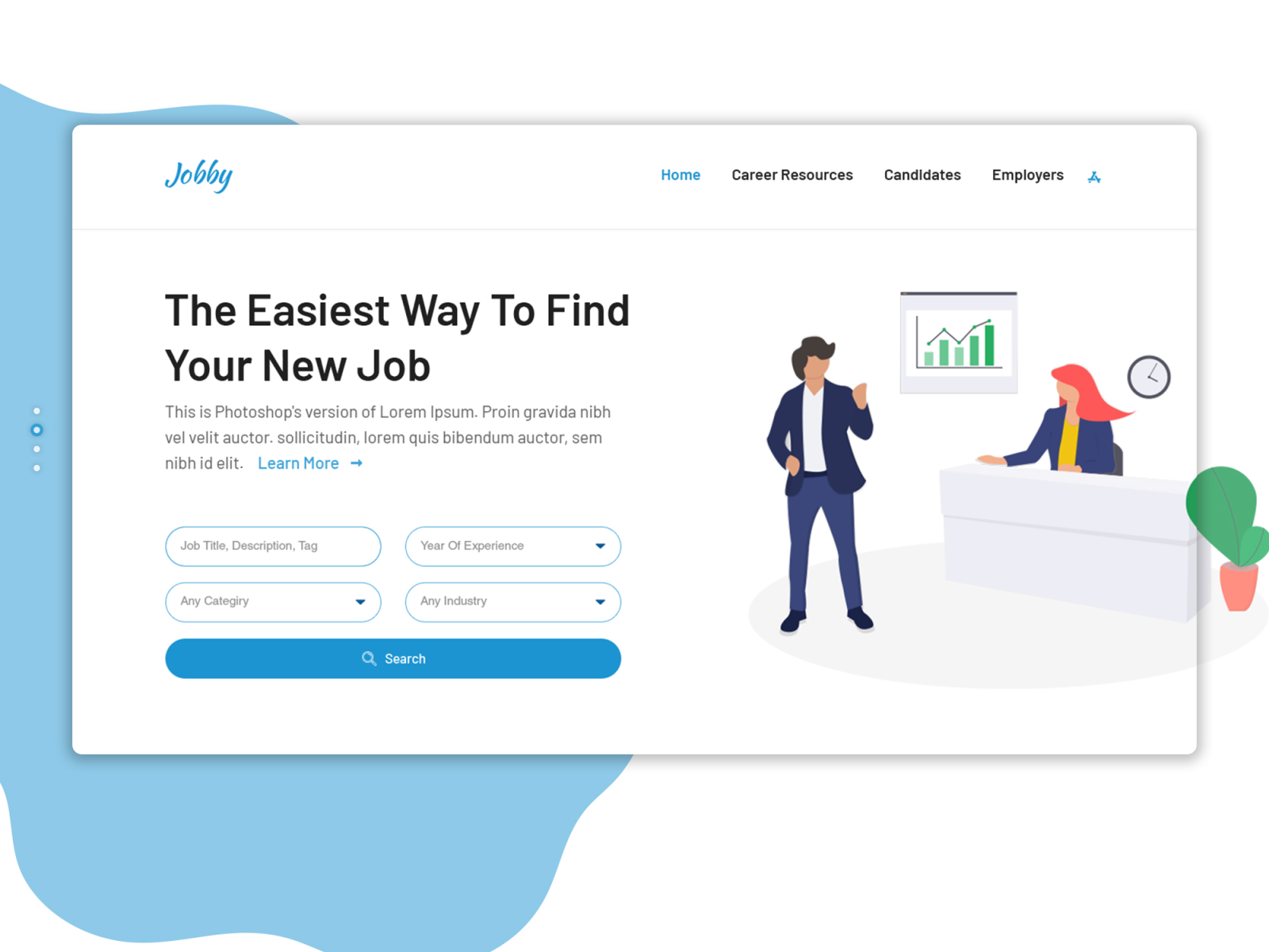 Job Portal Web Landing Page Ui Ux Design By Yasin Arafat Rasel On Dribbble