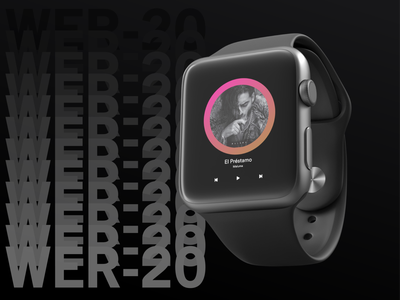 Music App for Apple Watch watch music art music album music app musician apple music music apple watch apple branding ux ui design