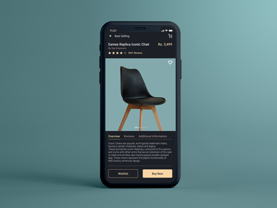 Furniture App Product Details Page furniture store furniture furniture website furniture design furniture app web minimal app illustration art typography icon ux ui vector design