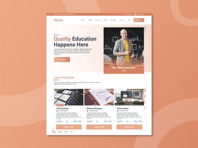 Educa: Online Course UI Kit user interaction user profile user iterface user interface design user interface user experience userinterface ux  ui uxdesign ux design uxui creative art behance adobe ux branding ui design