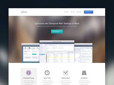 Uptheme startup navigation web ui ux css html wordpress button icon screenshot clean