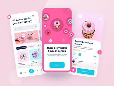 Donuts App Design food and drink food app food ui desig design app design app donuts