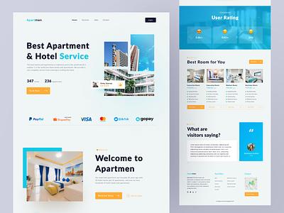 ApartMEN - Landing Page landing page design landing page traveler room booking ui design web design web apart apartment hotels hotel