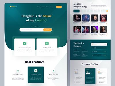 Dangdut Music - Landing Page music landing page pricing landing ui design web design green dangdut website web ui design landingpage landing page music