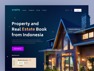 Property - Hero Landing Page house rooms booking booking room property landing page design landing design web landingpage landing page web design