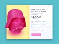 Daily Ui #002 - Darth Vader pink helmet