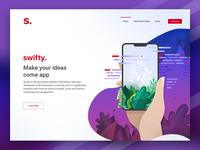 Header for Swifty.cloud website