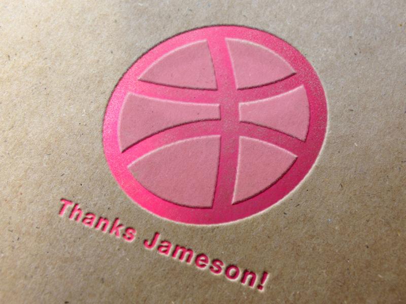 Thank you, Jameson Rodriguez debut dribbble pressed logo invite thanks thank you jameson twan vosters