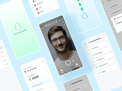 Snapchat - Money (Concept) flat ui minimal app design clean app design app ui app ui minimal clean ui design