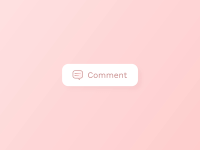 Comment Button - Hover Interaction after effects smooth lottie animation icon design button design comment hover animation hover effect hover state clean ui animation minimal design