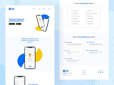 SuperSplit - Website websitedesign website flat ui ui clean ui minimal webdesign design