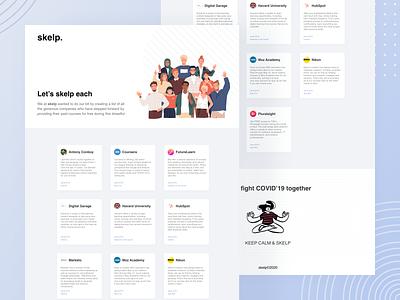 Skelp Website minimal webdesign website flat ui clean ui design ui