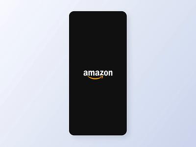 Amazon app - Splash screen exploration splash screen glow effect glowing logo design branding logo motion graphics animation