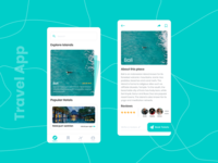 Travel App Screens