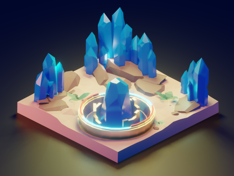 Crystals. 3d art blender3d blender cinema4d 3d icon flat design branding app art animation