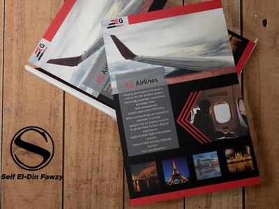 Eg airlines ( flyer design )