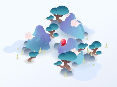 Dodi App——Chinese Style Theme Style Illustration