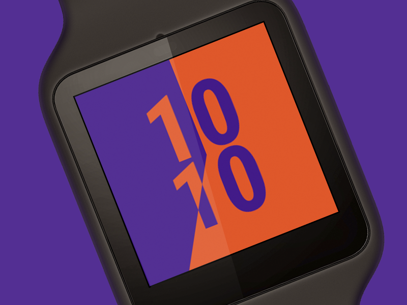 Android Wear – Invert ustwo albumen moto360 face watch wear android google time smartwatch ui clock