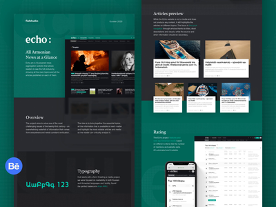 Echo: Behance case website design news web clean dribbble branding typography interaction flat ux ui interface design