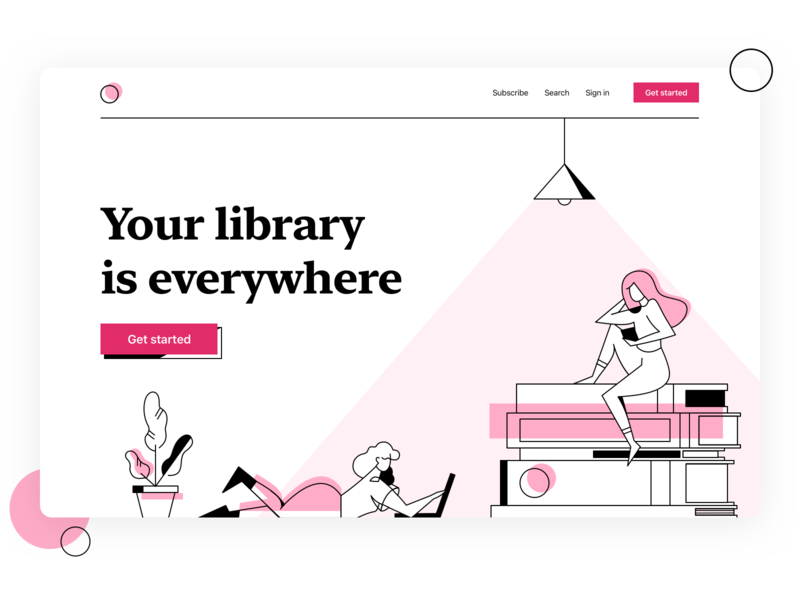 Book library clean library reading service book shop marketplace flat dribbble design vector illustration