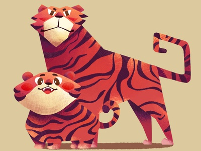 Tiger photoshop illustration character design tiger