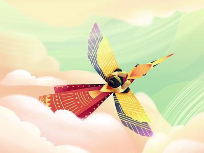 Vietnam Folktale photoshop bird animation folktale vietnam illustration