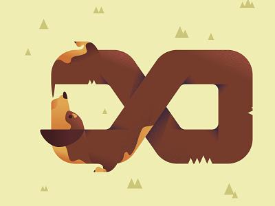 Endless Dog character design illustrator adobe illustrator illustration vector art vector endless dog