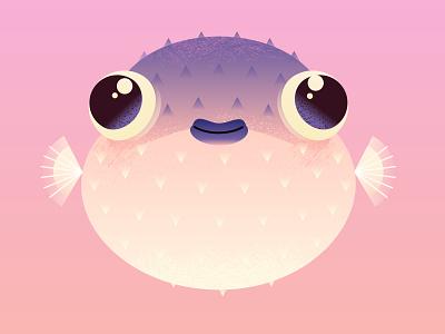 Puffer Fish digitalart drawing illustrator vector art illustration fish puffer