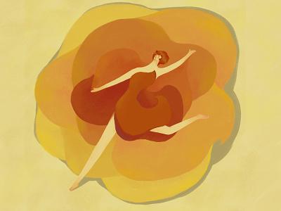 Flower Dance photoshop texture dance flower illustration