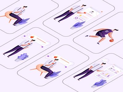 Illustration for Lumen App (Male Character)