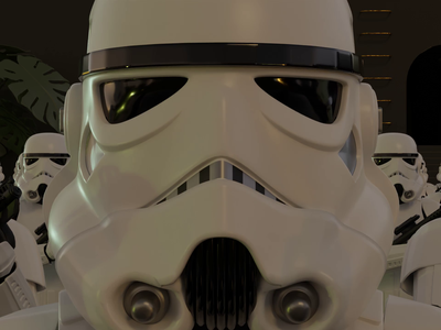 Stormtroopers clean materials lighting animation design 3d animation render 3d character character 3d art 3d illustration illustration 3d blender