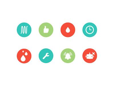 Alert icons web ui technology product iot icons