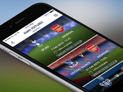 Fixtures list football sport iphone mobile ui app