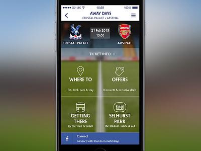 Dashboard football sport iphone mobile ui app