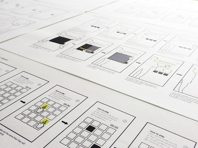 Storyboard energy interactive wireframes ux ui touchscreen
