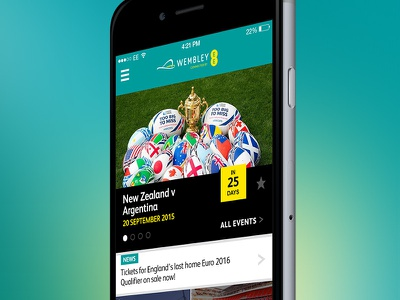 Home music sport iphone mobile ui app